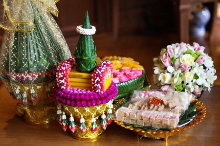 Objects for thai wedding ceremony