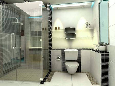 lavatory: Luxury modern bathroom