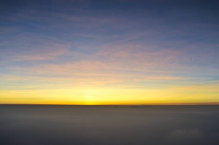 Beautiflu sunrise on the top of Mountain with Fog Stock Photo - 8574928
