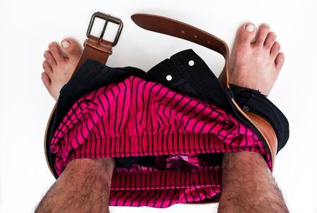 take off pants