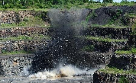 quarries: QUARRY EXPLOSION  Stock Photo
