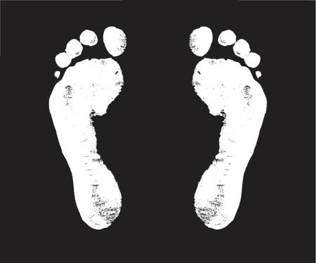 seguito: impronta, gradini, modo, Walker, a piedi, viaggio, vettore, bianco,