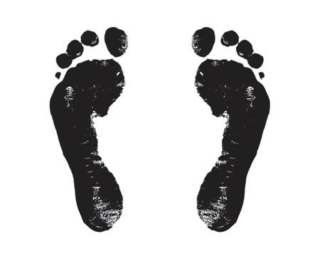 footprint, steps, way, walker, walk, voyage, vector, black, Vector