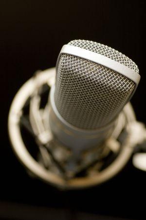 microphone on dark background Stock Photo
