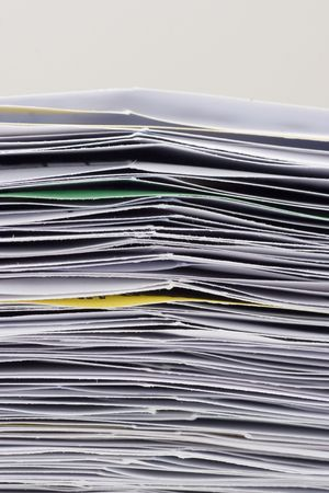 big stack of papers documents Stock Photo