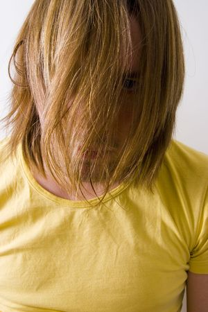 Face hidden behind hair Stock Photo - 781982