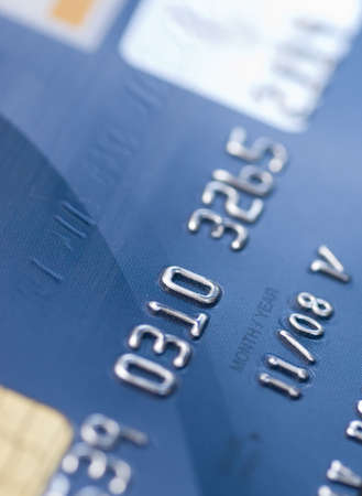 blue credit bank card Stock Photo