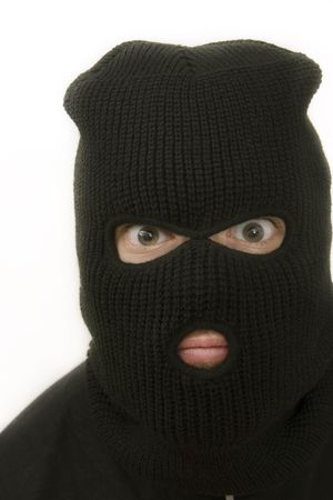 evil criminal wearing black military mask Stock Photo - 1005914