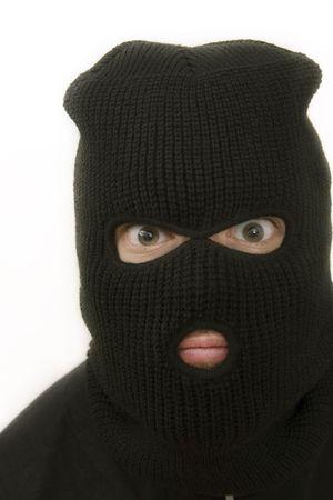 evil criminal wearing black military mask Stock Photo - 1005914