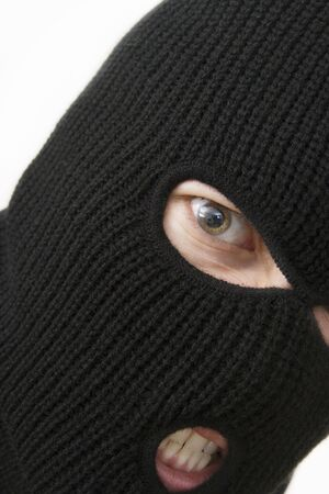 evil criminal wearing military mask Stock Photo - 1005917