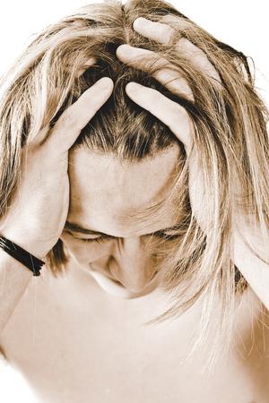 young man having headache