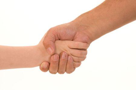 handshake between child and adult