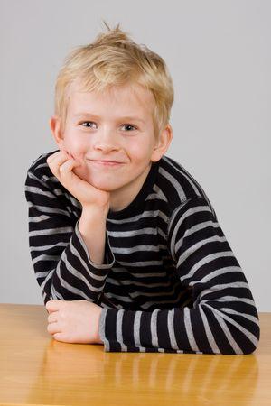 Portrait of a smiling little boy photo