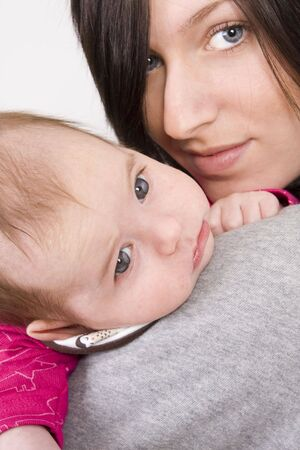 young mother and her baby girl photo