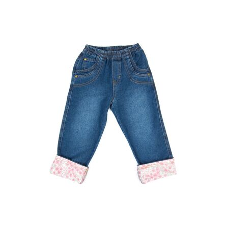 kids blue jeans isolated on white
