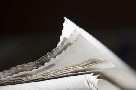 newspapers on dark background Standard-Bild