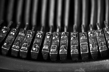 closeup of an old typewriting machine Standard-Bild