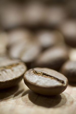 caf: coffee beans background, selective focus Stock Photo