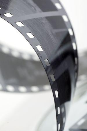 black and white negative film strip