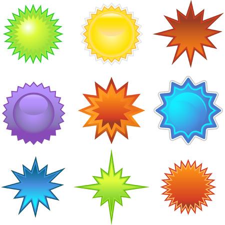 graphic: Starburst Stickers Illustration