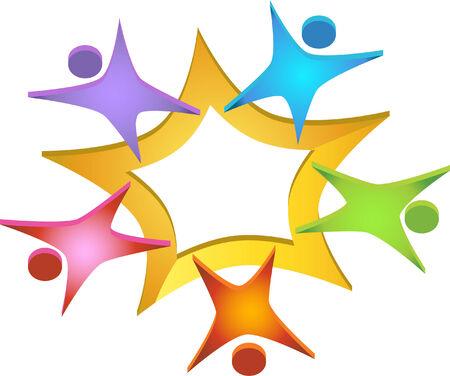 Team 3D Icon Illustration