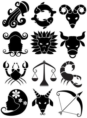 virgo: Icono de signo del zodiaco Vectores