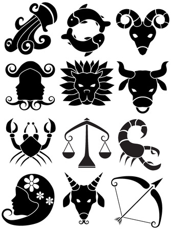 zodiac signs: Zodiac Sign Icon Illustration