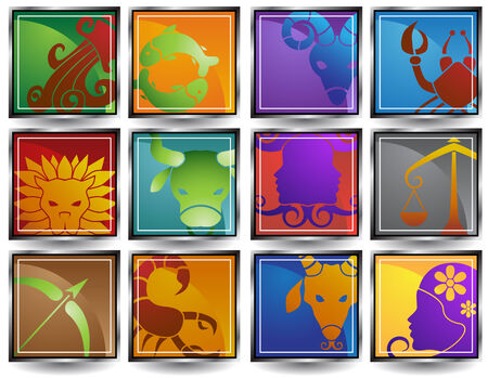 Zodiac Sign Icon Frame Stock fotó - 4904270