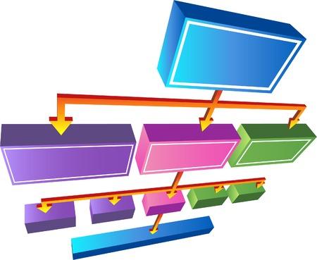 3D Org-Diagramm Standard-Bild - 4904189