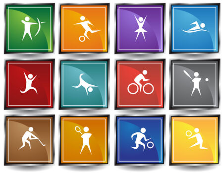 Sports Icon Squares Vector