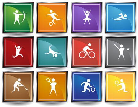 icon set: Sports Icon Squares