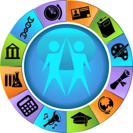 Education Icon Circle Stock Vector - 4920172