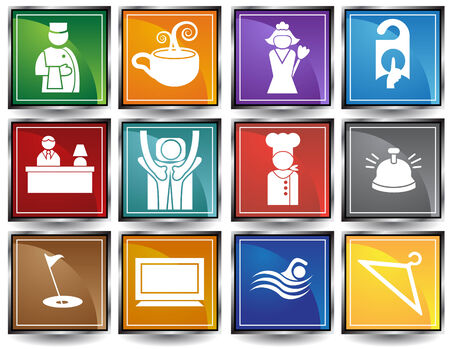 Hotel Icons Stock Vector - 4920184