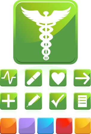 Medical Green Set Vector