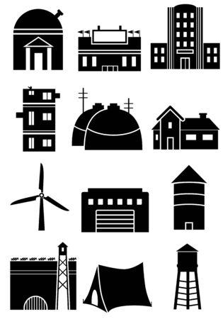 windmolen: De pictogrammen van de structuur van de generieke