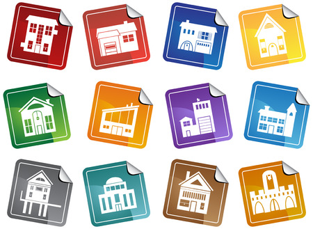 Building Stickers Stock Vector - 4942566