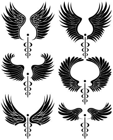 symbol: Caduceus Black Set