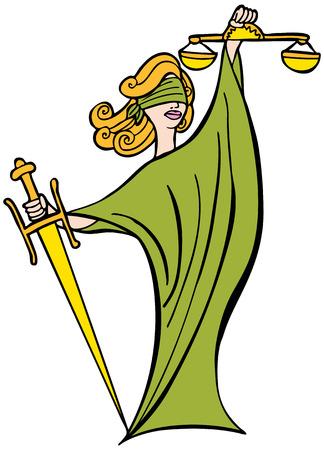 dama justicia: Justicia Se�ora: Mujer con los ojos vendados, la espada y las escalas que representan el sistema legal.