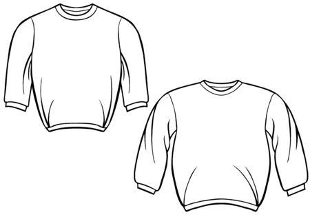 스웨터 셔츠 : 셔츠 라인 아트. 일러스트