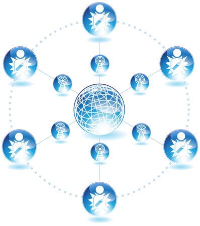Terrorist Chart Icon Set : Exploding Man button. Stock Vector - 5163258