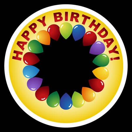 birthday badge Vector
