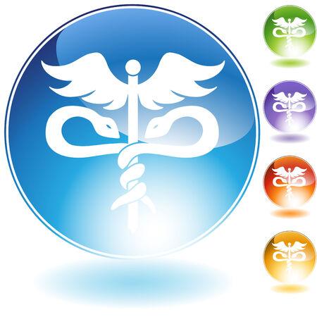 medical symbol crystal Stock Vector - 5267063