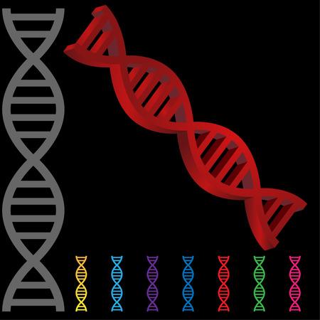 DNA icon set