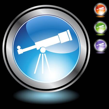 telescope chrome crystal Stock Vector - 5267062