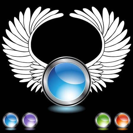 Engel Flügel Chrom Kristalle Standard-Bild - 5267069