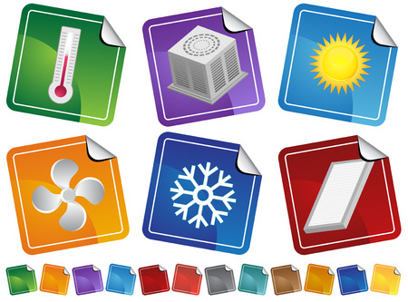 air filter: Air Conditioner Stickers : Heating and cooling themed stickers