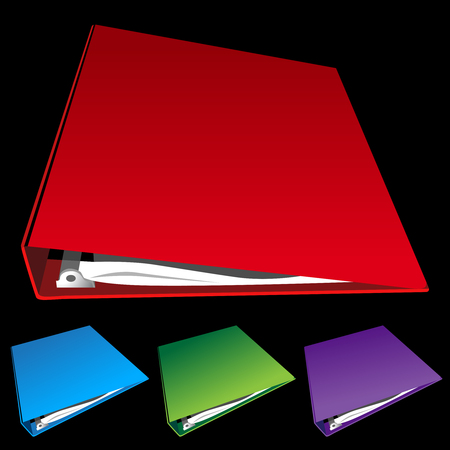 three ring binder set Vector
