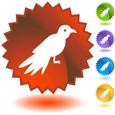bird badge Vector