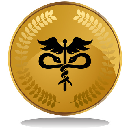 medical symbol: moneda s�mbolo de m�dicos