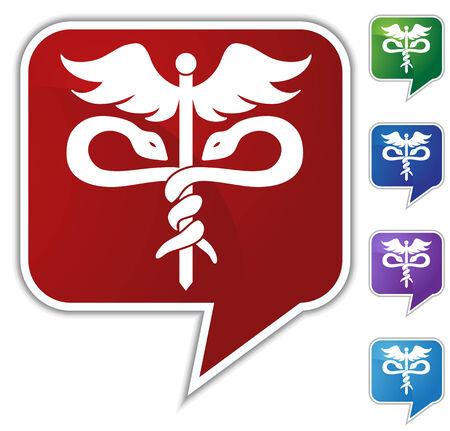 medical symbol: medical symbol speech bubble